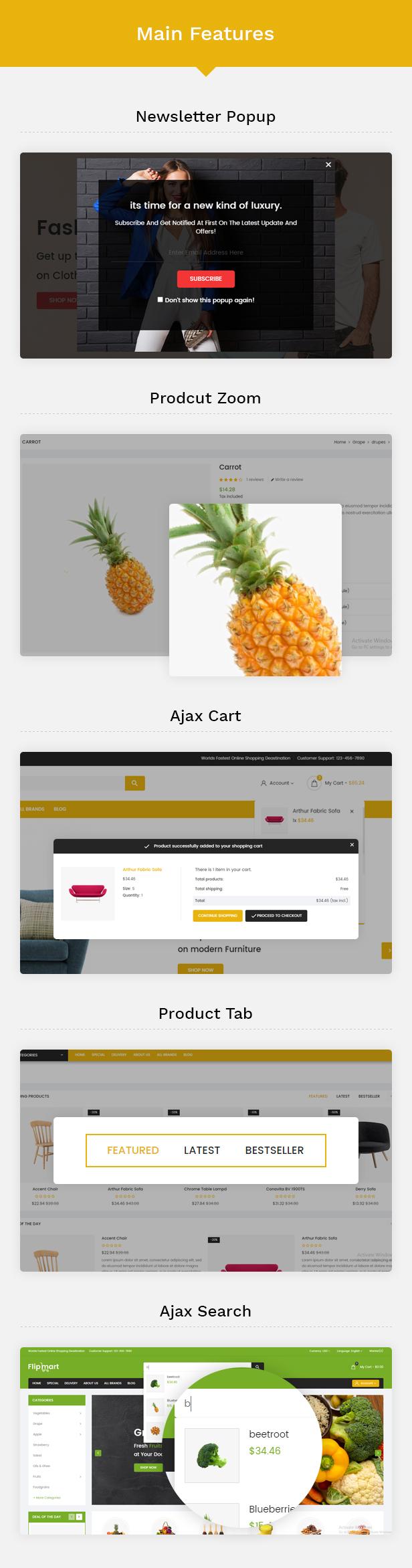 Flipmart Features