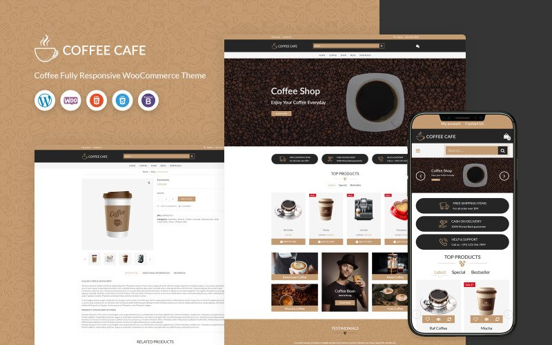 Coffee Cafe - WooCommerce Template